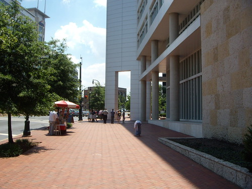 Wide Sidewalk In Front Of Discovery