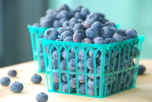 fresh blueberries