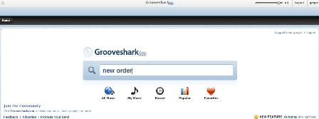 Grooveshark music search