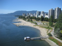 Sunset Beach from Burrard St Bridge