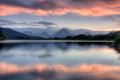 Oxbow Sunset, Grand Teton National Park (Jeffrey Sullivan) Tags: park sunset copyright usa mountains reflection jeff nature clouds landscape photo angle wide grand national wyoming sullivan teton 2008 oxbow efs1022mm supershot mywinners platinumphoto theunforgettablepictures elitephotography allrightsreserrved