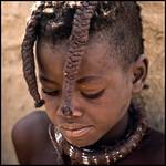 shy little Himba girl