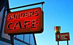 Kentucky Fried Museum (ilovecoffeeyesido) Tags: restaurant cafe kfc neonsign kentuckyfriedchicken sanderscafe plasticsign harlandsanders corbinkentucky corbinky colonelsandersmuseum