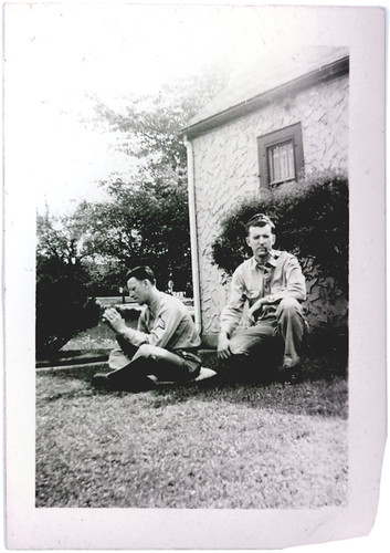 two guys on grass
