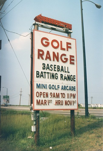 Irv's Golf Range at South Cicero Avenue and west 70th Street. Bedford Park Illinois.( Gone.) July 1986.