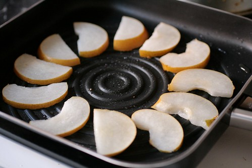 Grilling the pear