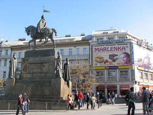 Equestrian statue Prague