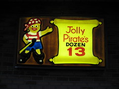 Jolly Pirate sign (adamy323) Tags: sign funny pirate jollypiratedonuts