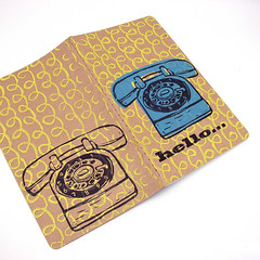 Notebook - Telephone (1Girl 1Boy) Tags: moleskine notebook journal pop handprinted cahier rotarytelephone blockprinted oilbasedink