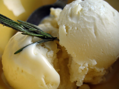 Rosemary Olive Oil Ice Crem