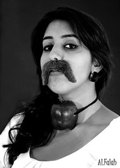 I'm A WOMAN (Ghanayem) Tags: white black adam apple women im can mustache adamsapple alfalah