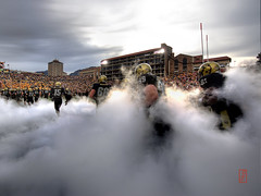 Folsom on Fire (@!ex) Tags: sign fog clouds football colorado university pentax smoke folsom foggy wideangle boulder handheld pregame buffaloes sigma1020mm universityofcolorado coolshot pentaxk10d alexbenison