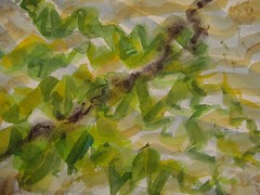 Day 308,Squids trail, watercolour,A4 aprox. (Pogorita) Tags: seaweed water seaside hampshire squid coastline layers seashore drawingaday calshotbeach artillustration squidsink