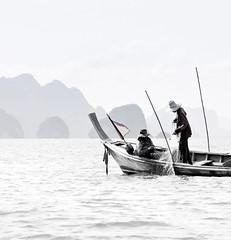 Thai Fishermen (mahonyweb) Tags: bw asian thailand island interestingness interesting asia explore thai phuket krabi lightroom phangngabay top500 flickrexplore magicdonkey kohyao canon70200lf28is canon400d