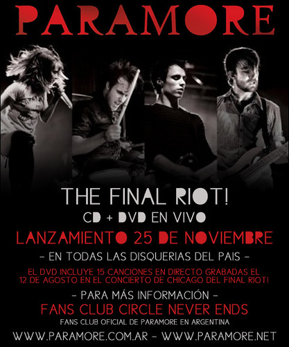 final riot paramore. The Final Riot!