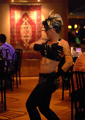 Mona at the Med Hookah 11 01 08 (Drumdude Bill) Tags: beautiful dance nikon mona dancer redhead belly bellydance dl40