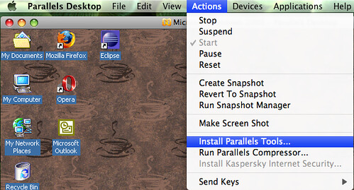 Install Parallels Tools.