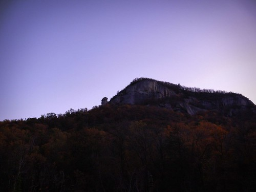Chimney Rock Silhouette