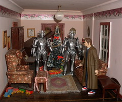 Doctor Who and the Cybermen at Christmas
