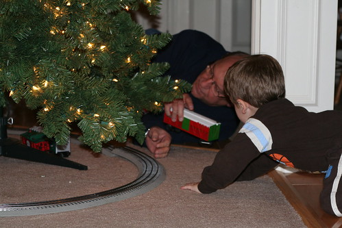 Putting together the Christmas Train