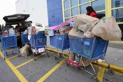 Loading up at Toys R Us