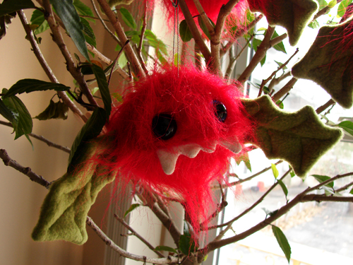 Vampberry ornament in hibiscus tree