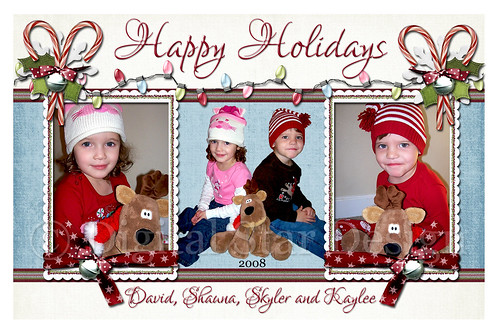 Christmas Card Example, 6x4, full size
