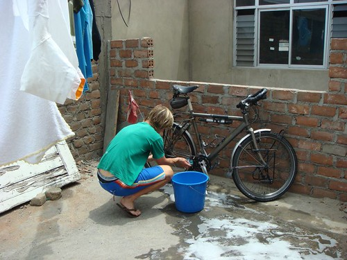 Cleaning my babe in Trujillo, Peru...