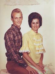 vintage studio portrait, mom and dad