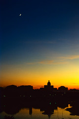 Sunset at Chatter Manzil, Lucknow, India (Jitendra Singh : Indian Travel Photographer) Tags: travel blue sunset sky sun moon black reflection yellow river evening cpc distillery lucknow jiten travelphotography chattarmanzil jitendra jitender silhutte jitendrasingh indiaphoto jitens bestphotojournalist indiantravel shaameawadh wwwjitenscom jshimla gettyphotographer bestindianphotographers jitensmailgmailcom wwwindiantravelphotographercom famousindianphotographer famousindianphotojournalist gettyindianphotographer