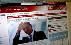 the moment of victory - BBC news website screencap