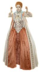 Elizabeth I. - Rainbow Portrait gown, 2.