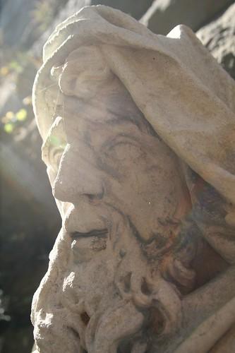 Stone Face in Sun