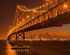 A Rare Perspective Of San Fran (kevin mcneal) Tags: sanfrancisco bridge urban cityscape nightshot caifornia coolshot
