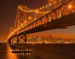 A Rare Perspective Of San Fran (kevin mcneal) Tags: sanfrancisco bridge urban cityscape nightshot caifornia coolshot
