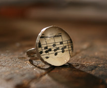 Musical Notes Soldered Ring 6