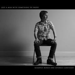Day One Hundred Eighty Five (Dustin Diaz) Tags: portrait bw man chair nikon sitting boots badass saturday jeans 365 plaid d3 robertandersen onelight featured 50mmf14g strobist sb900 dedfolio robertissohot singleladieshesavailable