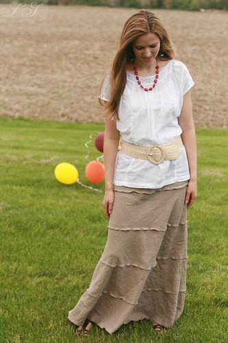 tiered summer skirt