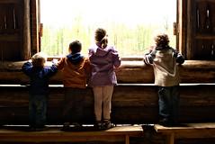 barn|kids (DJHuber) Tags: canada kids barn children george day bc looking marcus prince columbia victoria british homestead dawson elijah makenna huble 2011