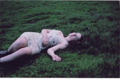 (RE) Tags: park flowers film nature colors grass dark dead kodak inspired mysterious virginsuicides lyinginthegrass deadgirl vintagedress audreybanks