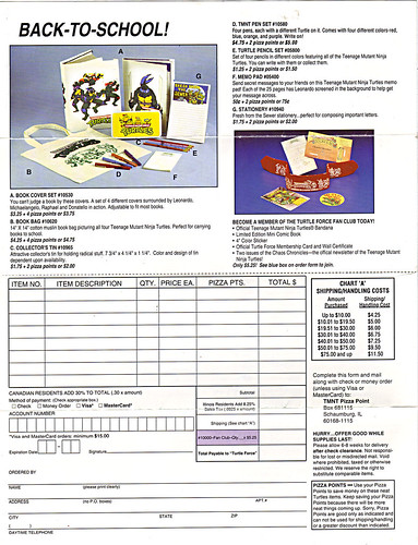 TEENAGE MUTANT NINJA TURTLES :: The Pizza Point Collector's Catalog { Full Colour Edition } pg. 4 (( 199x ))