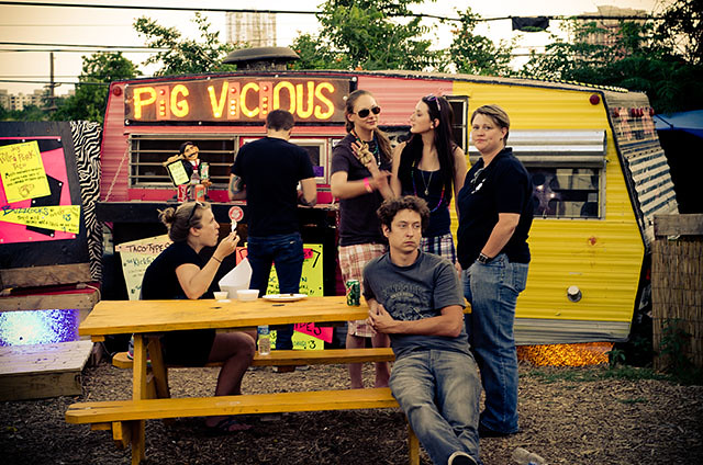 Pig Vicious food trailer in Austin