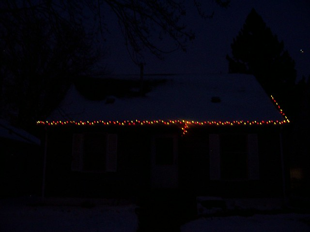 christmas lights dark outside