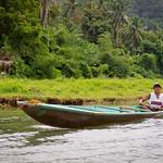 A river boatman near Pagsanjan falls, Luzon, Philippines