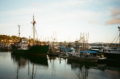 Fishing boats on the Oregon Coast (timichango) Tags: oregon olympus xa olympusxa roadtrip2006