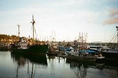 Fishing boats on the Oregon Coast (timichango) Tags: oregon olympus xa olympusxa roadtrip2006