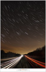 Star lines above highway lines (1D004988) (nandOOnline) Tags: road sky lines night lights star evening highway traffic earth trails eindhoven rotation astronomy nightsky constellations carlights startrails geldrop nandoonline nandoharmsen