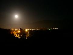 Kaikoura by night (enricobernasconi (busy)) Tags: road trees light newzealand moon alberi night landscape strada tramonto luna southisland luci kaikoura notte paesaggio fila scuro profilo abbagliante