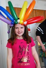 Rainbow Balloon Hat