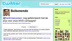 Premier Jan-Peter Balkenende op Twitter